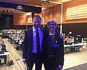 Bent Høie og Eli Gunhild By under NSFs e-helsekonferanse 2019