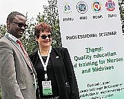 Karen K. Bjøro og Andre Gitembagara