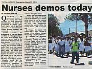 Malawi demonstrasjon sykepleiere