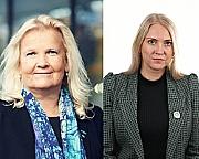 Lill Sverresdatter Larsen, NSF og Lizzie Ruud Thorkildsen, Delta, står samlet i kritikken mot KS.
